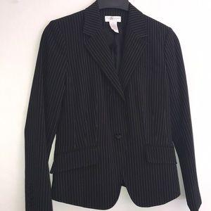 Worthington Stretch Black w/white stripes Blazer